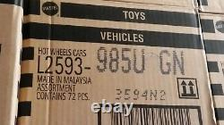 New Factory Sealed Hot Wheels Basic Die Cast 164 Case 72 Cars Stamped 2013