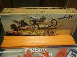 New Year Wild Wheelie Sale Pre-owed'70 Mattel Mongoose & Snake Wild Wheelie Set