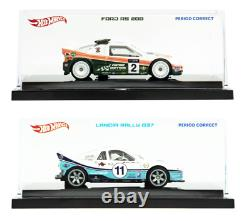 Set of 2 Period Correct Hot Wheels Ford RS200 Lancia 037 164 DIE-CAST CARS