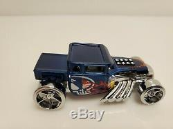 Very Rare Hot Wheels CustomUSB Bone Shaker Promo 2013 Style Drive Blue USA