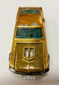 Vintage Hot Wheels Redline Custom Mustang Hong Kong Early Tm Base Rare Gold Ohs